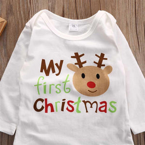 "Holly ""My First Christmas"" Baby Romper"