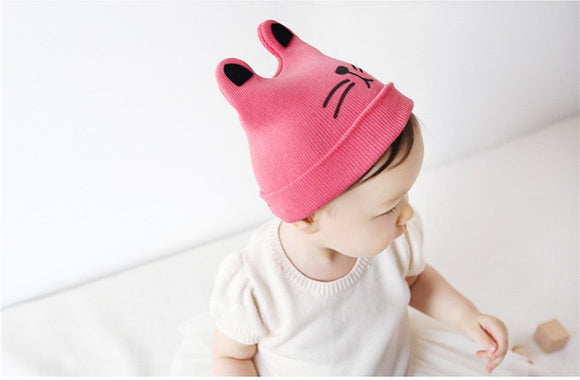 Fall/Winter Cotton Knitted Beanie Hat with Ears - Gaia Spot