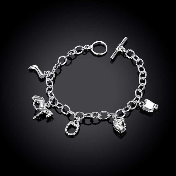 Trendy Silver Plated Beads Horse Bracelet for Women & Girls - Gaia Spot