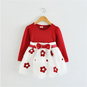Patricia Longsleeves Floral Party Dress for Baby Girls