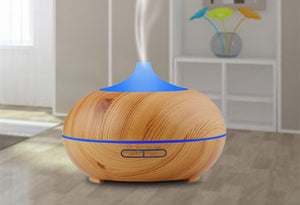 Essential Oil Diffuser Elegant Wood Air Humidifier 7 Light Colors - Gaia Spot