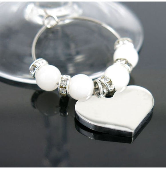 Wine Glass Charms For Wedding Decoration - Gaia Spot