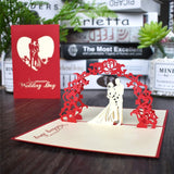 3D Pop UP Cards Wedding Invitation