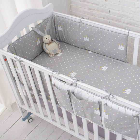 Muslin Little Grey Crown Bedding Set