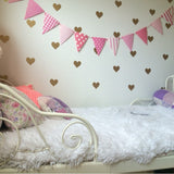 Removable Hearts Wall Decals