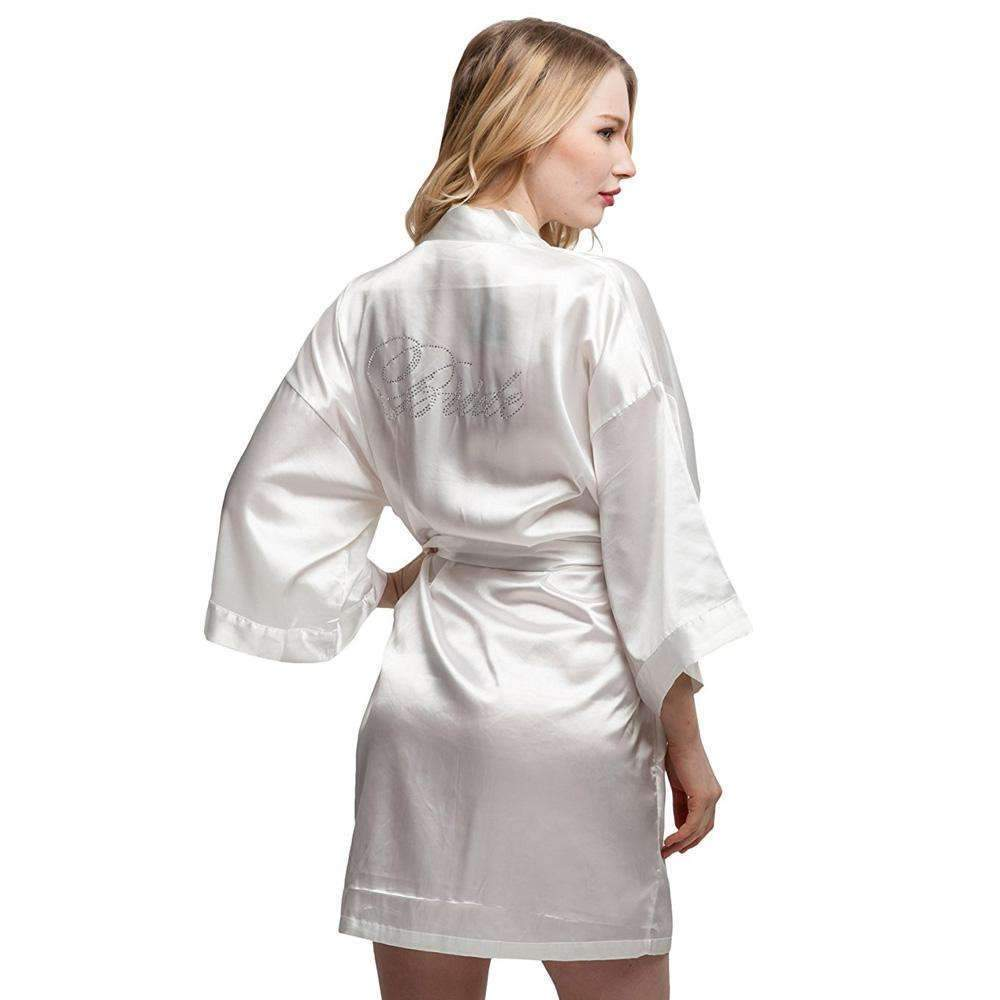 ec87dc4b3c26 Bride   Bridesmaid   Maid of Honor   Flower Girl s Silk Robes – Gaia ...
