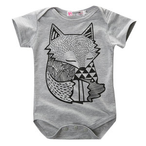 Andy Gray Fox Baby Romper - Gaia Spot