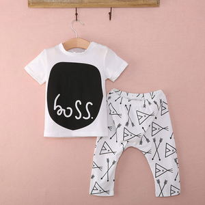 "Trendy ""Boss"" Baby Clothing Set - Gaia Spot"