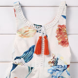 Summer Sleeveless Floral Baby Romper