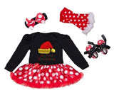 "Leila ""My First Christmas"" Polka Dot Tutu Dress Set"