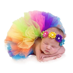 Baby Girl Photography Props Tutu Dress with Headband