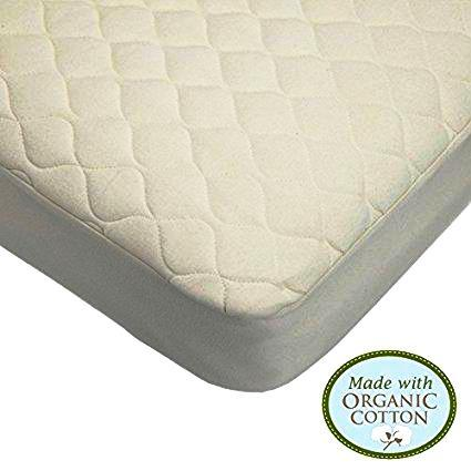 American Baby Company Waterproof Quilted Crib Pad Cover - Gaia Spot