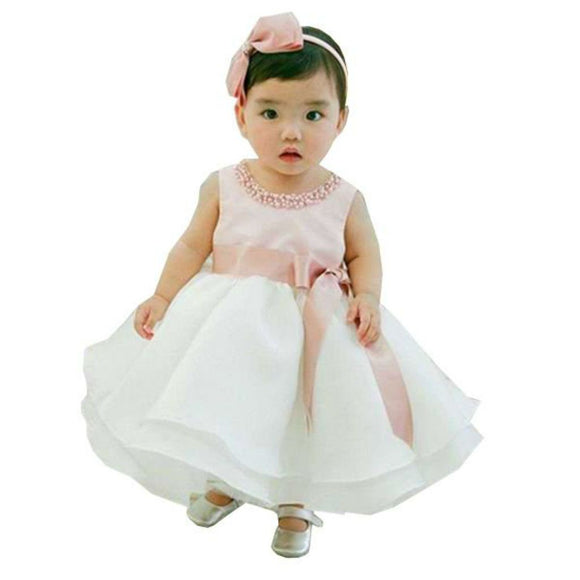 Lovely Girl Gown With Elegant Faux Pearls