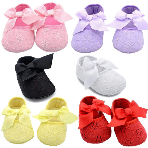 Lace Baby Girl Anti-Slip Shoes with Butterfly-knot