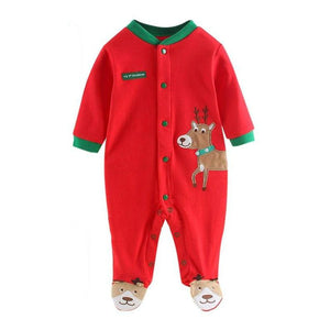 Jay Red Long Sleeve Baby Romper - Gaia Spot