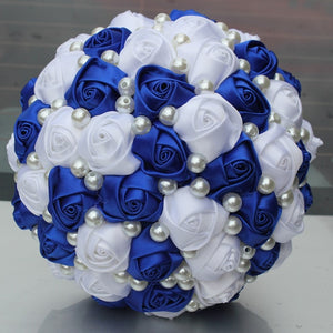 Pure Color Ivory Bridal Wedding Bouquet  (Artificial Flowers)