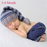Baby Photography Props Newborn Costume Outfit Clothes Infant Girls Boys Hat Pant Crochet Knit Clothing Photo Shoot Hat For Baby