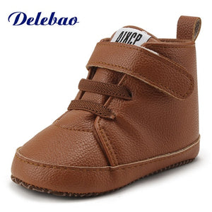 Leather Hook & Loop Baby Shoes