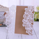 Hollow out Luxury Laser Cut Wedding Invitations  Card