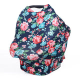 Nursing Baby car seat cover Floral Multi-use scarf