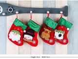 4pcs Cartoon Christmas Stocking  Ornaments