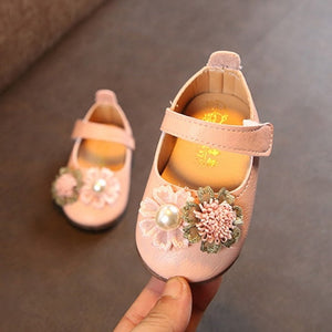 Floral Baby Girl Princess Slipper Shoe