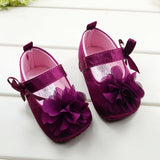Raspberry Floral Ribbon Slipper Shoe