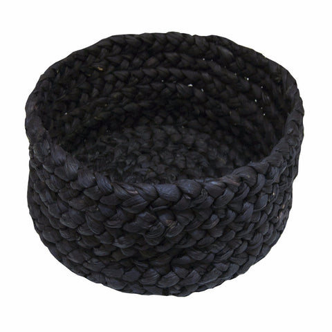Black Braided Baskets - Set of 3