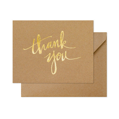 Thank You Card - 14cm x 10.8cm