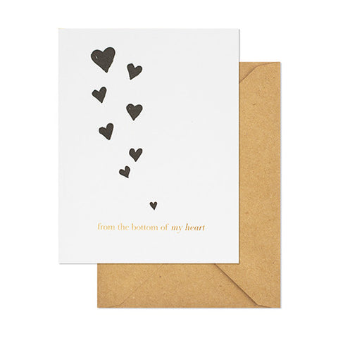 From the Bottom of My Heart Card - 10.8cm x 14cm