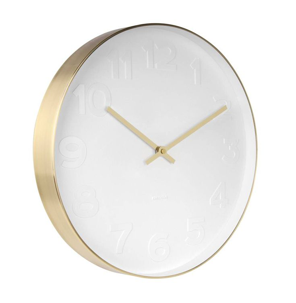 Mr White - Gold Wall Clock