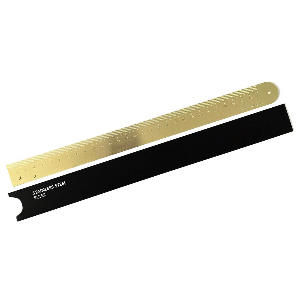 Brass Steel Ruler - Made of Tomorrow - Available at Pippy Homeware