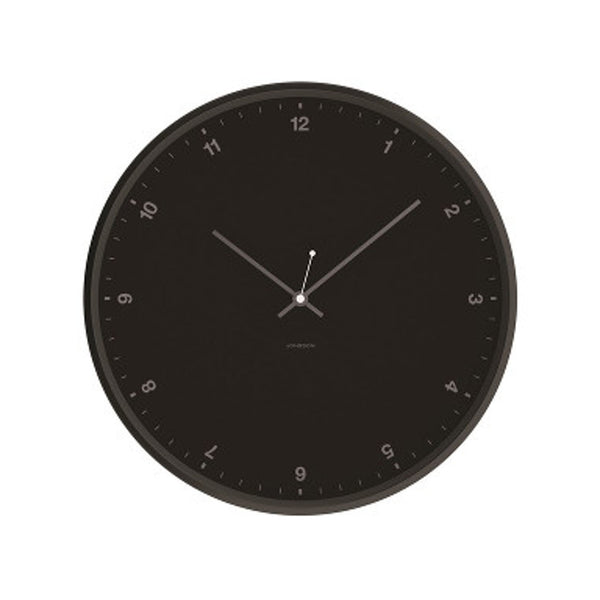 Small Numbers Clock - Black