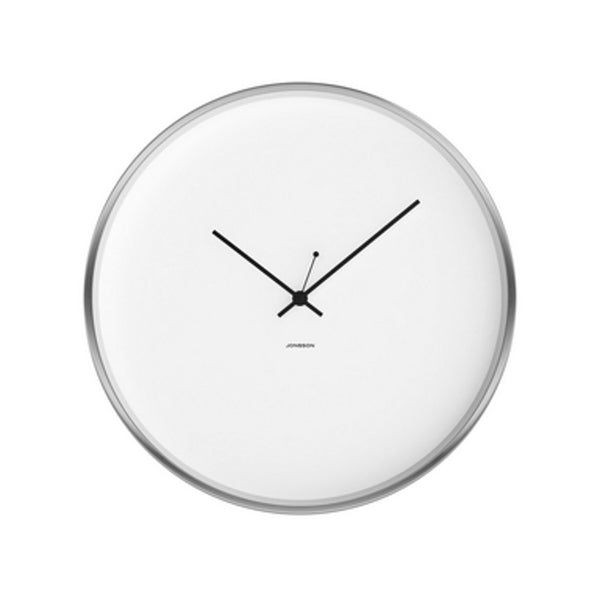 Minimal Clock - White / Brushed Steel