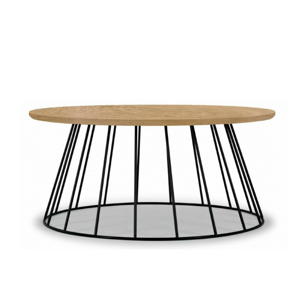 Tapered Natural and Black Coffee Table