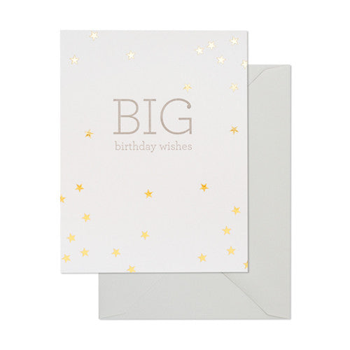 Big Birthday Wishes Card - Sugar Paper Los Angeles