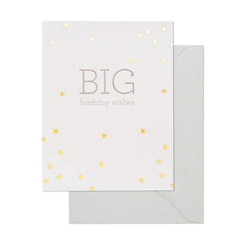 Big Birthday Wishes Card - 10.8cm x 14cm