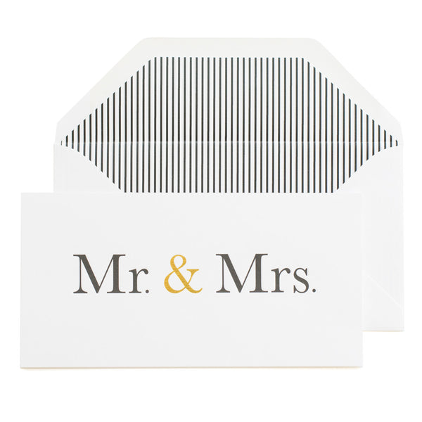 Mr & Mrs Card - 18.5cm x 9.5cm