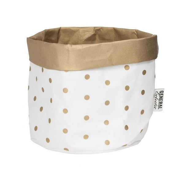Washable Paper Bag - Gold Spot