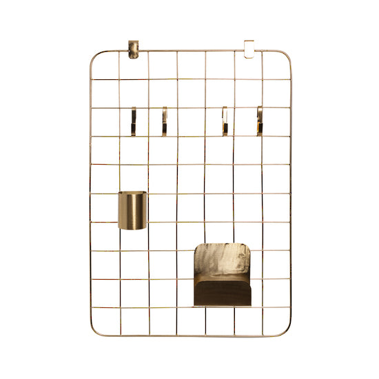 Grid Organiser Set - Brass