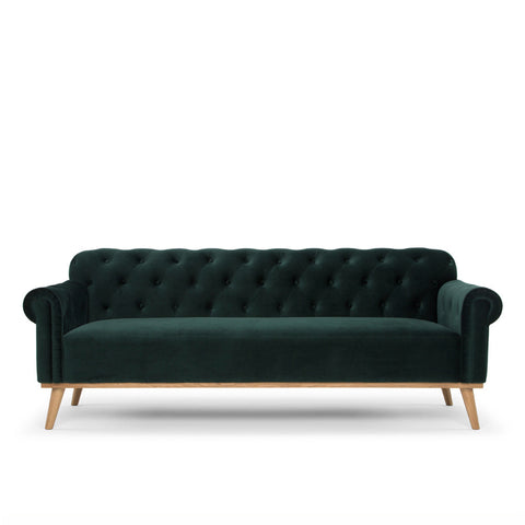 Deep Green Chesterfield Sofa - Available on pre-order