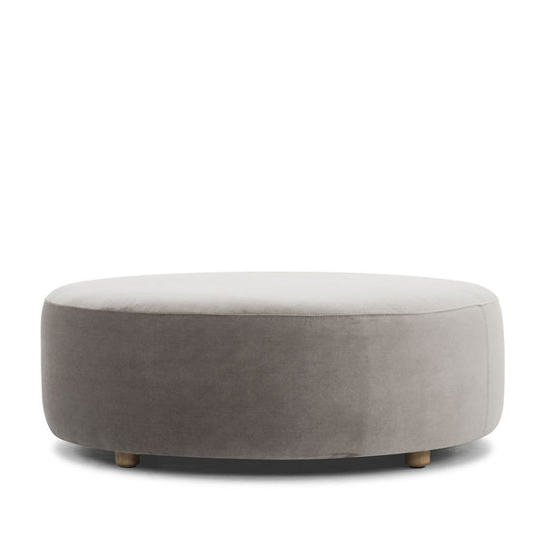 Mouse Grey Drum Ottoman
