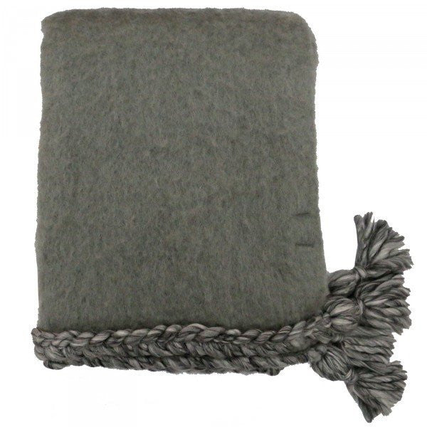 Plait Throw - Grey