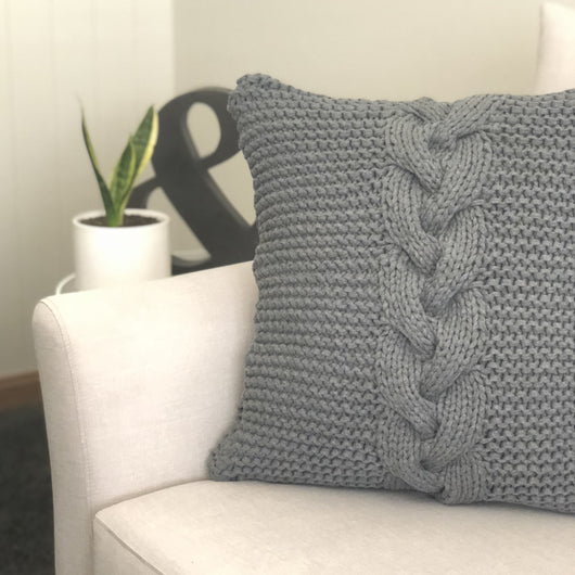 This beautiful Braided Cable Cushion designed by Elizabeth Park Collections makes a fantastic statement piece in any home.  This easy to follow pattern is suitable for advanced beginners who have a basic knowledge of knitting and cables, and has been designed for use with T-shirt Yarn.   You will receive a PDF pattern emailed to you within 24 hours of placing your order, please make sure you use a valid email address as this is the address your pattern will be emailed to.  You will need:  2 x Bobbins of T-s