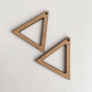 Accessories - Bamboo Earrings Triangle