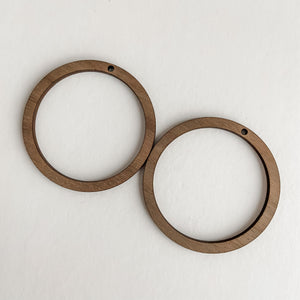 Accessories - Bamboo Earrings Large Circles