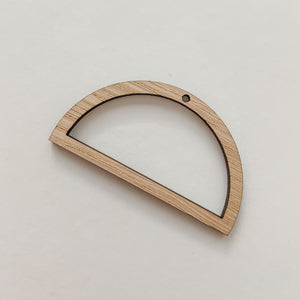 Accessories - Bamboo Pendant Large Semi Circle