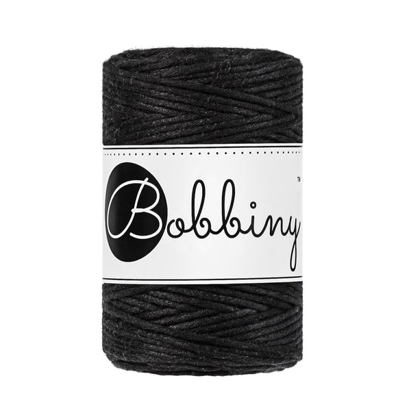 Bobbiny Single Twist Macrame Cord - Baby 1.5mm - Black