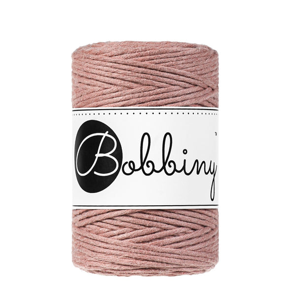 Bobbiny Single Twist Macrame Cord - Baby 1.5mm - Blush