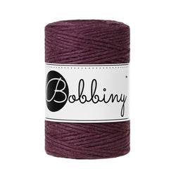 These beautiful new additions to the Bobbiny range are perfect for your mini macrame projects, earrings, weavings or any other fibre art.  This super soft cord knots beautifully and makes a wonderful fringe.  Premium Macrame Cord 1.5mm  Length: 108 yards (100m)  Weight: 160gms  Single Twist  100% recycled cotton  28 Fibres   Consistent colour guaranteed